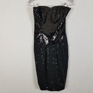 Betsey Johnson Strapless sequin evening dress 4